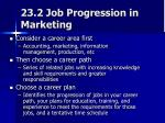 23 2 job progression in marketing