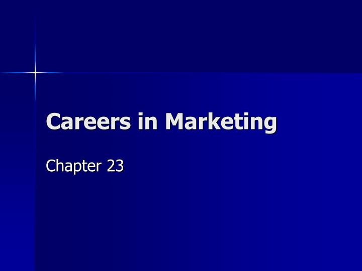 careers in marketing n.