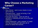 why choose a marketing career