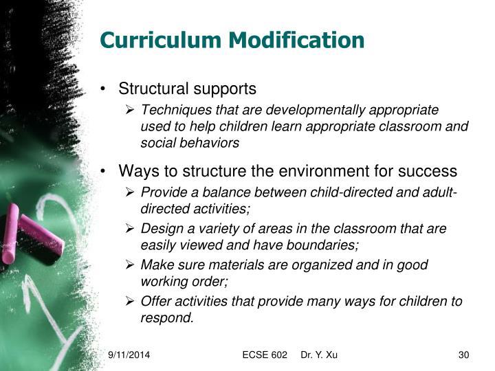 Curriculum Modification