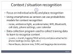 context situation recognition