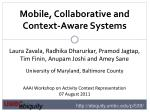 mobile collaborative and context aware systems