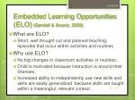 embedded learning opportunities elo sandall swartz 2008