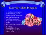 everyday math program