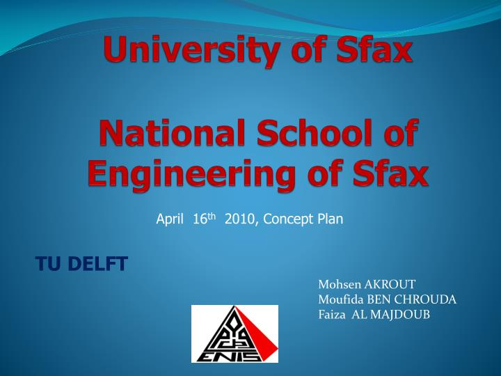 university of sfax national school of engineering of sfax n.