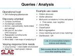 queries analysis