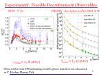 experimental possible deconfinement observables