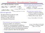 fluctuation deconfinement transition