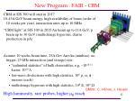 new program fair cbm