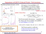 signature of qcd critical point net protons
