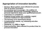 appropriation of innovation benefits