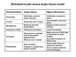 rhineland model versus anglo saxon model