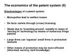 the economics of the patent system ii