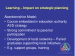 learning impact on strategic planning