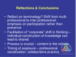 reflections conclusions
