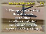 rise up o men of god verse 1