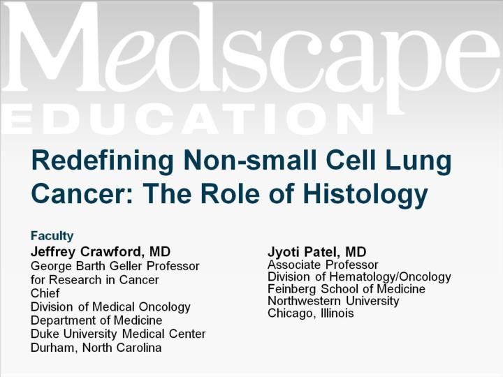 redefining non small cell lung cancer the role of histology n.