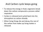 and carbon cycle keeps going