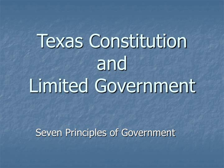 texas constitution and limited government n.