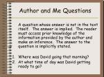 author and me questions