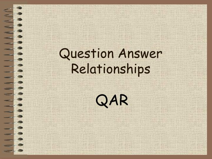 question answer relationships n.