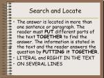 search and locate