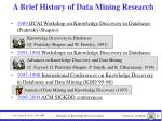 a brief history of data mining research