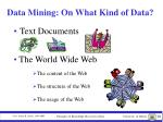 data mining on what kind of data4