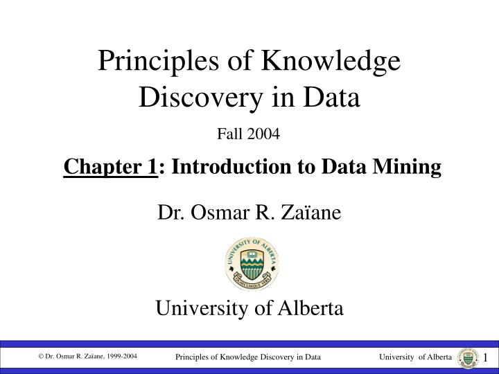 principles of knowledge discovery in data n.