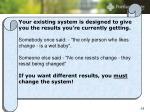 improvement requires change