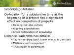 leadership distance