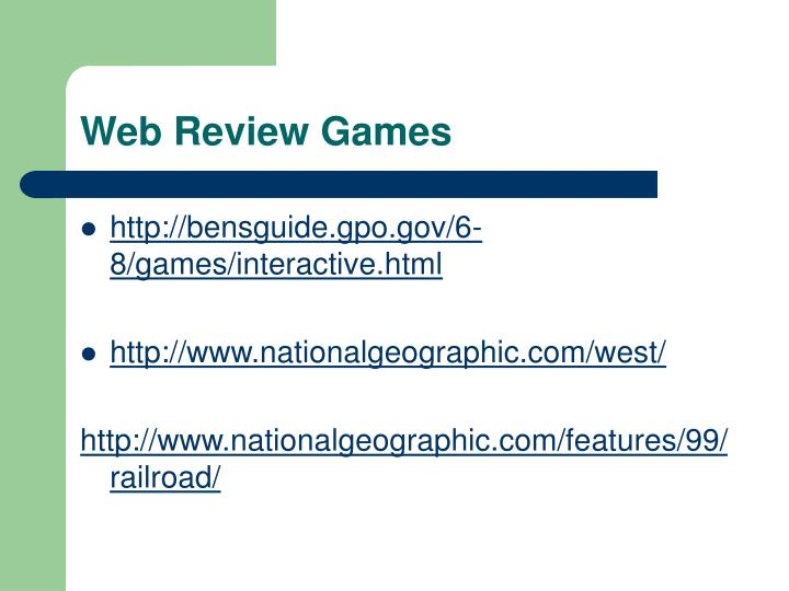 Web Review Games