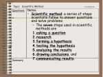 topic scientific method ca standard 8