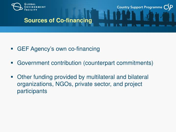 Sources of Co-financing
