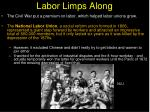 labor limps along