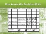 how to use the revision block2