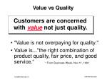 value vs quality