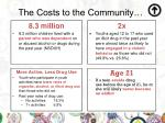 the costs to the community1