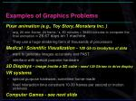 examples of graphics problems
