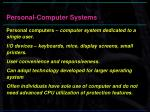 personal computer systems