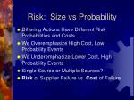risk size vs probability