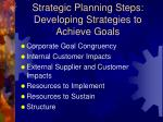strategic planning steps developing strategies to achieve goals2