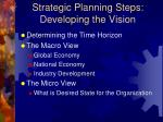 strategic planning steps developing the vision