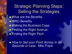 strategic planning steps selling the strategies
