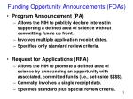 funding opportunity announcements foas