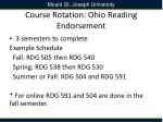 course rotation ohio reading endorsement