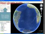 open google earth