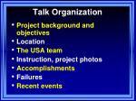 talk organization