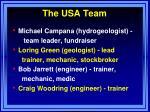 the usa team