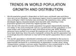 trends in world population growth and distribution